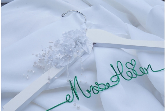 bride hanger with flowers