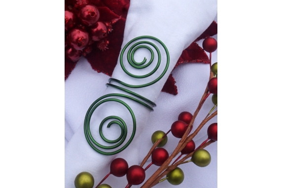 green wire napkin rings