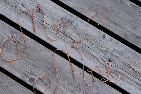 mr mrs copper wire signs