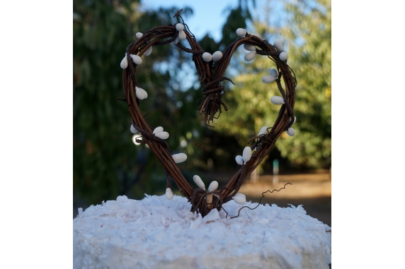 vine and berries cake topper