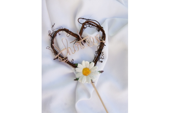 rustic daisy vine table number
