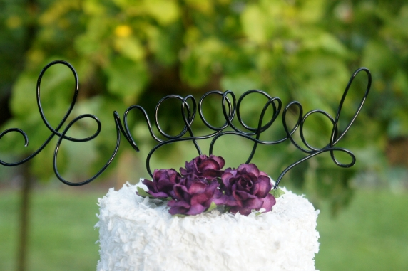 engagement party cake topper