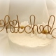 hitched rustic wire cake topper