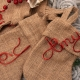personalized burlap mini stocking