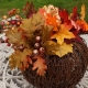 Decorative vine pumpkin centerpiece
