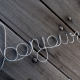 bonjour wire wall sign