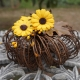 rustic pumpkin sunflower ccenterpiece