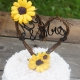 sunflower vine heart cake topper