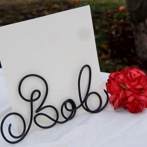 name wire photo card holder