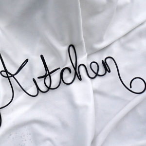 Kitchen Sign For Kitchen Wall, Wire Wall Art, Metal Decor Sign