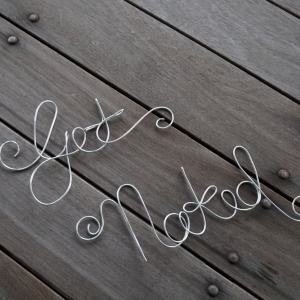 Get Naked Wire Bathroom Sign For Wall