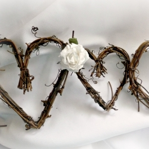 Country Wedding Vine Garland With Or Without White Roses For Wall Backdrop At Reception Or Bride Shower Decor