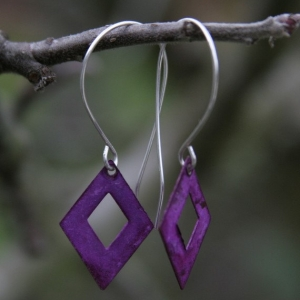 Casual Purple Earrings With Sterling Silver Earwires