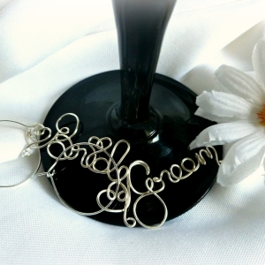 bride groom wine glass charms