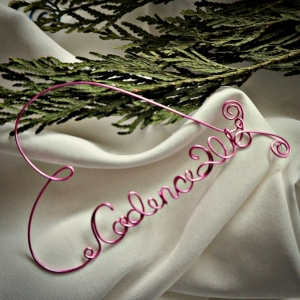 baby name ornament heart