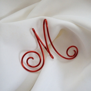 Letter Initial Stocking Tag