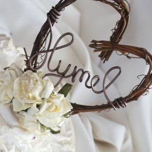 grapevine sign cake topper