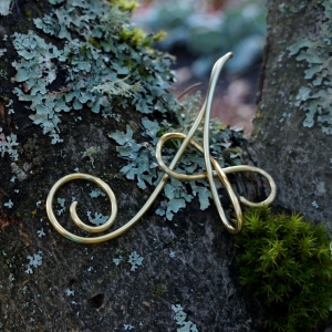 Letter Initial Christmas Ornament, Custom Made For You