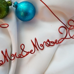 mr mrs year ornament