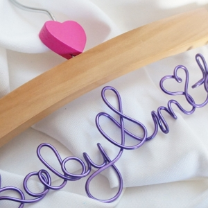 small baby hanger with name