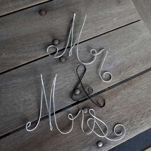 wire mr mrs wall sign