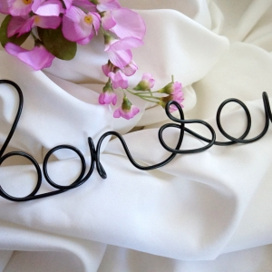 large bon soir wire sign