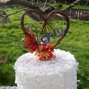 Fall Cake Topper With Or Without Leaves