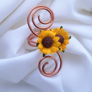 sunflower napkin rings