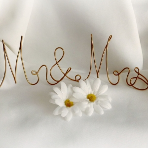 mr and mrs top table sign