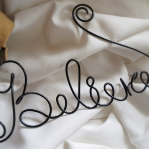 believe wall sign
