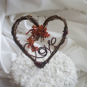 Fall Wedding Cake Topper, With Or Without Leaves