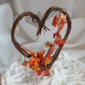 Fall Leaves Cake Topper For Autumn Wedding Decor Or Bride Shower