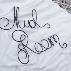 Mud Room Wire Word Sign