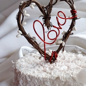 rustic vine topper with love script
