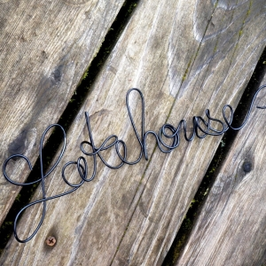 Lakehouse Sign For Country Cottage Chic Home Decor, Deck or Front Porch Decor, Back Porch Sign