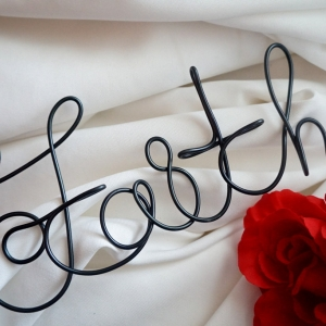 faith wire wall sign
