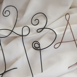 rustic wire table numbers