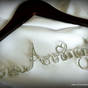 Personalized Bride or Groom Hanger, Great Engagement Gift