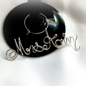 Gift Future Daughter in Law, Bride Engagement Gift, Mrs Last Name Wine Charm