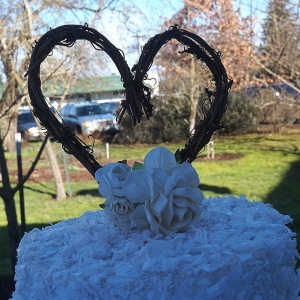 Grapevine Cake Topper For Rustic Cake Decorations, Engagement Party, Rustic Baby Shower