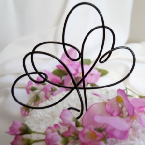 triple hearts cake topper