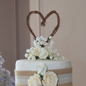 natural grapevine cake topper
