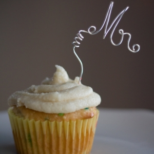 Mr Mrs Mini Cupcake Toppers