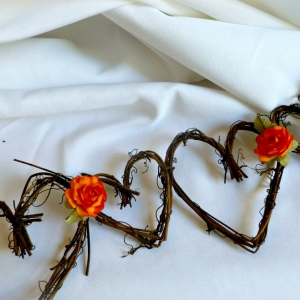 Rustic Backdrop, Wedding Garland, 5ft With Or Without Roses