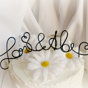 Engagement Party Cake Topper, Couple's Rehearsal Dinner Decor, Personalized