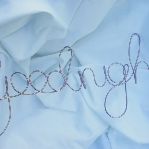 goodnight wall sign