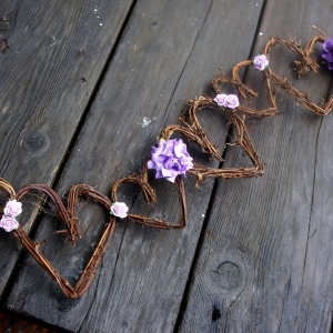 Purple flower garland