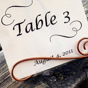 copper sign holder
