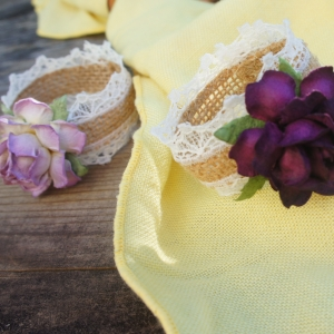 rose lace napkin rings