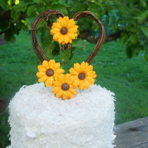 sunflower cake topper